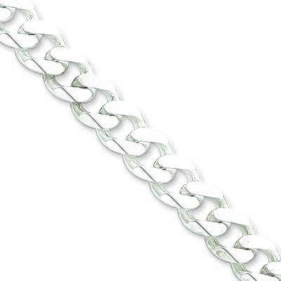 11MM Curb Link Silver Chain