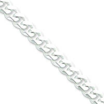 9MM Curb Link Silver Chain