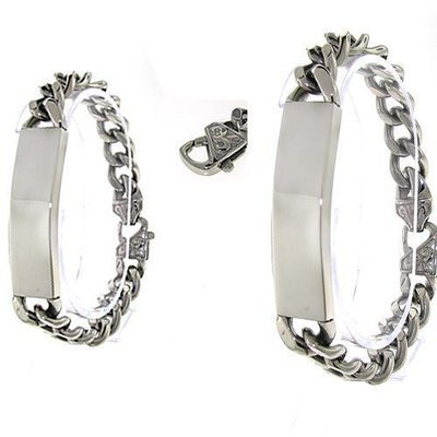 Men's Curb Link Stainless Steel ID Bracelet