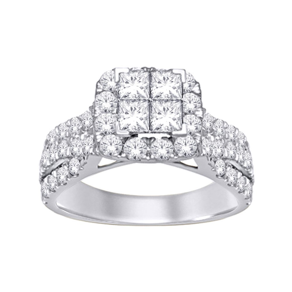2Ctw Princess Diamond Ring 10KW