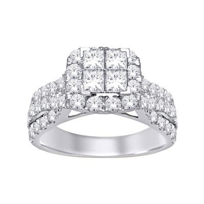 2Ctw Princess Diamond Ring 10KW