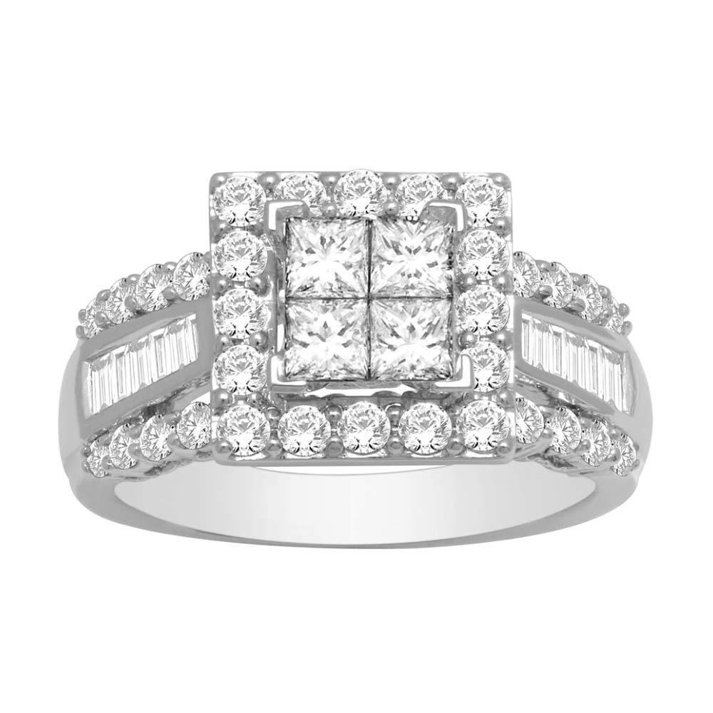 2Ctw Princess Diamond Wedding Ring 10KW