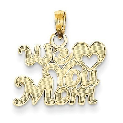 14KY We Love You Mom Pendant