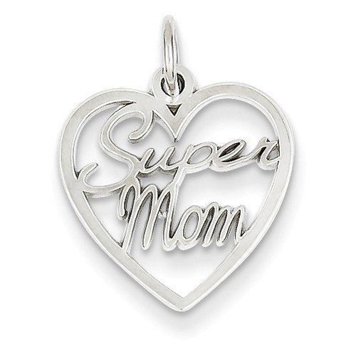 14KW Super Mom Charm Pendant