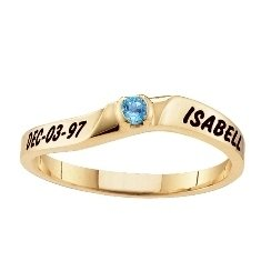 Traditional Stackable Family Ring