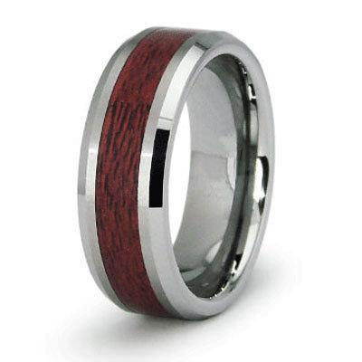 Men's Tungsten/Wood Inlay Band
