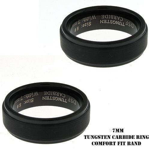Men's IP Plated Black Tungsten Band