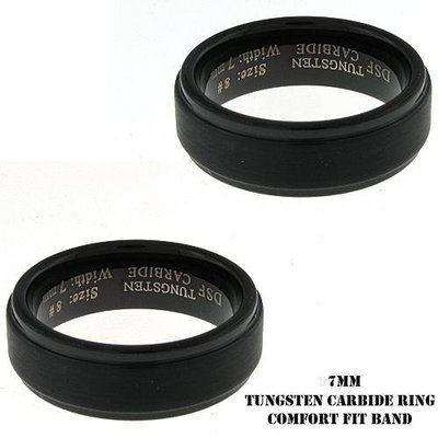 Men's IP Plated Black Tungsten Band