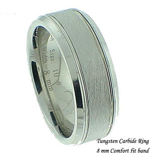Men's Satin Finished Tungsten Band