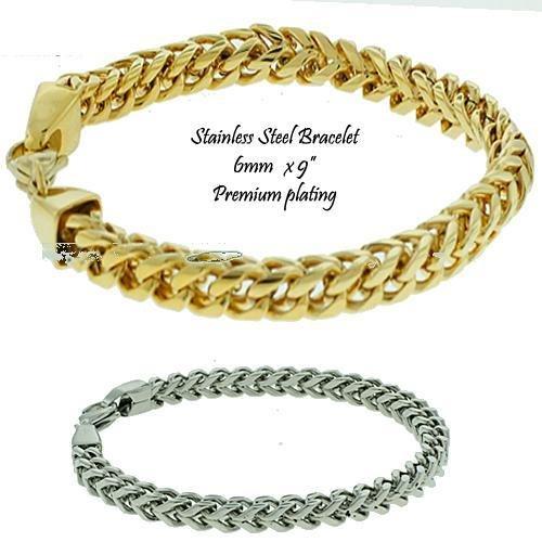 """Men's Stainless Steel Franco Bracelet 9"""""""