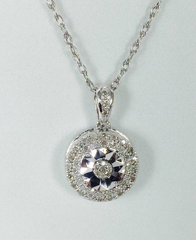 0.10Ctw Sterling Silver Diamond Pendant