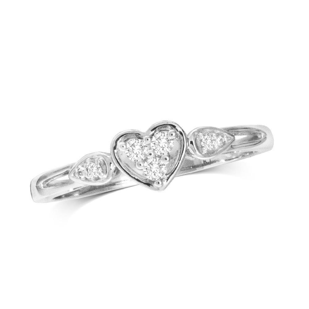 0.10Ctw Diamond Heart Ring 10KW