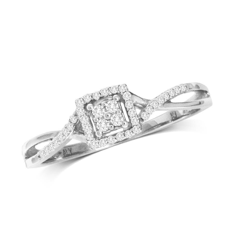 0.10Ctw Infinity Diamond Ring 10KW