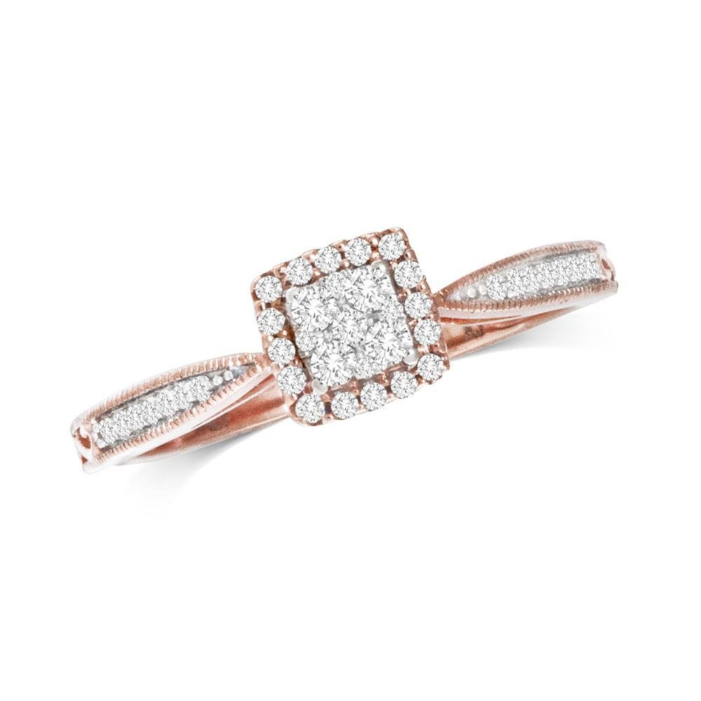 0.20Ctw Diamond Ring 10K Rose Gold