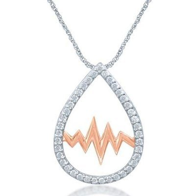 0.20Ctw Diamond Silver Diamond Pendant