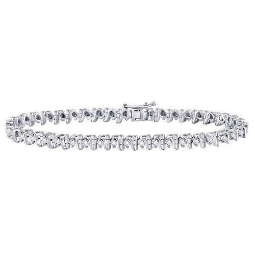 0.33Ctw Sterling Silver Diamond Bracelet