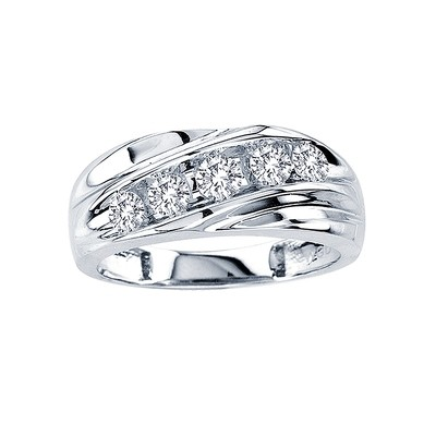 0.25CTW Men's Diamond Band 14KW