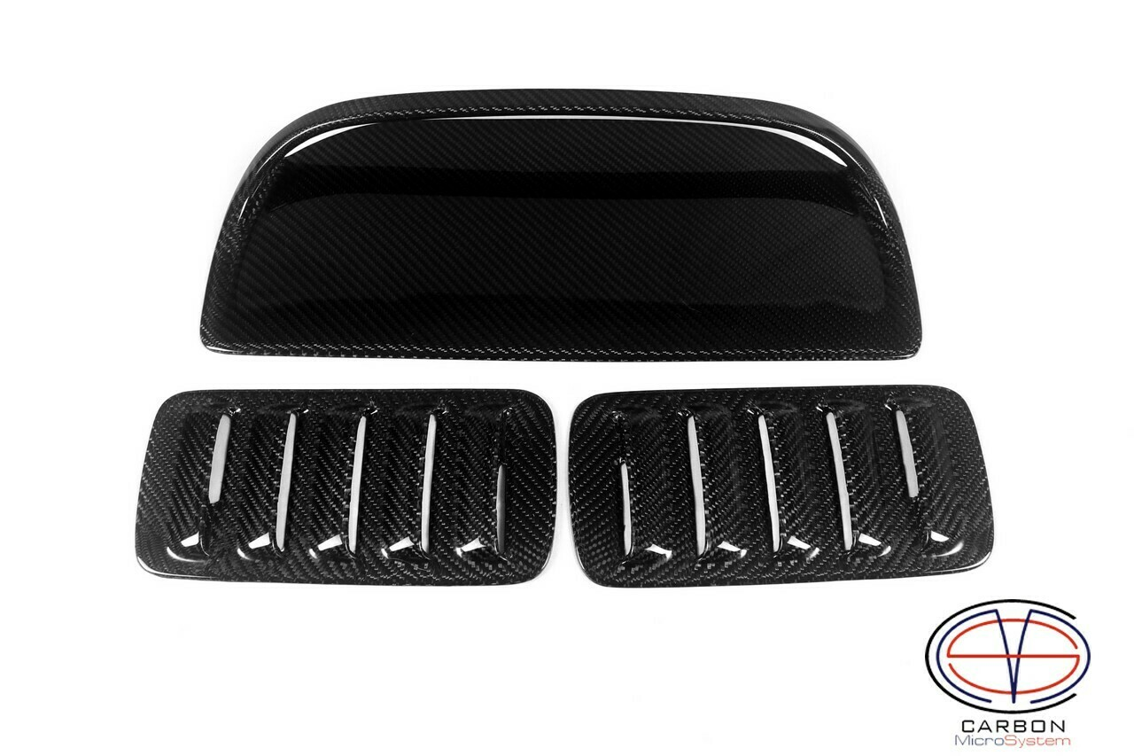 2 Inserts and Hood Scoop from Carbon Fiber for TOYOTA Celica  ST185 GT4