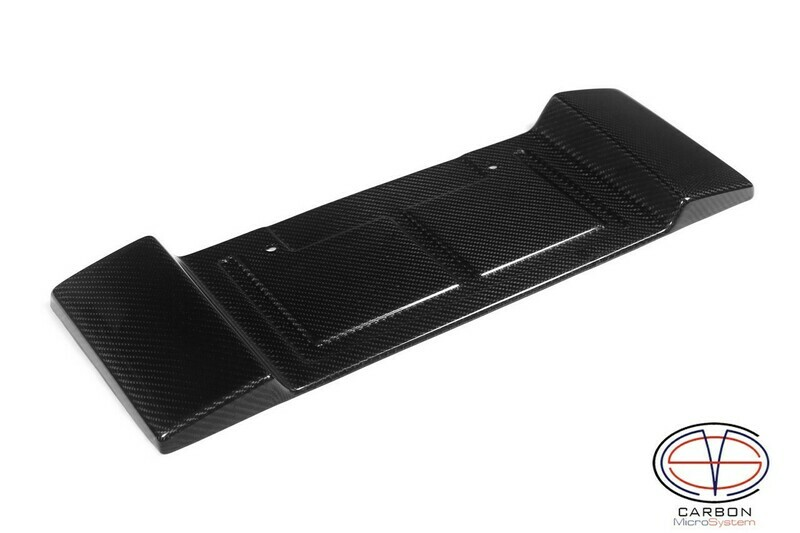 Short number plate panel surround from Carbon Fiber for Celica T23