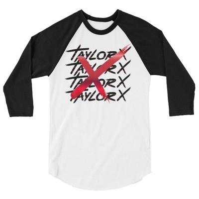 Taylor X jersey 3/4 sleeve tee