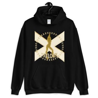 Unisex Hoodie- Gold Taylor X Logo