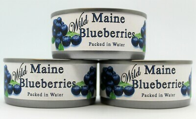 CANNED WILD MAINE BLUEBERRIES IN WATER (CBB3.5)