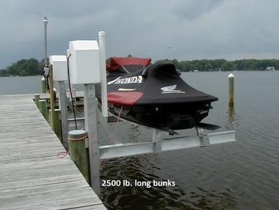 2500 LB. Watercraft Lift - Electric Winch Freshwater Track - Twin Track