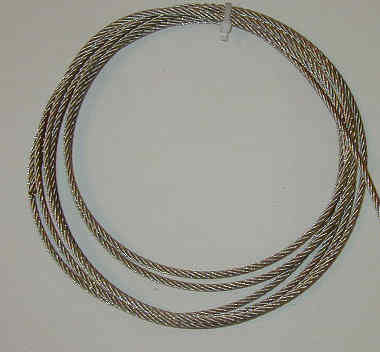 """1/4""""   STAINLESS STEEL AIRCRAFT CABLE   **Priced Per Foot**"""