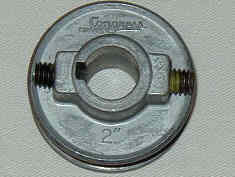 """Motor pulley  2""""  x  1/2 or 5/8"""" bore"""