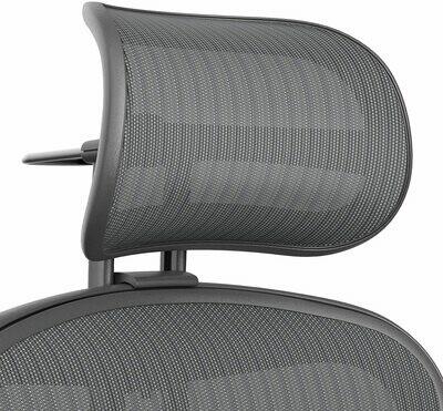 Atlas Suspension Mesh Headrest for Herman Miller Remastered Aeron Chair - Carbon