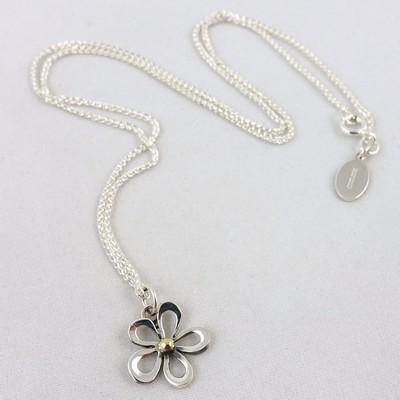 Silver Flower Pendant, by Linda Macdonald