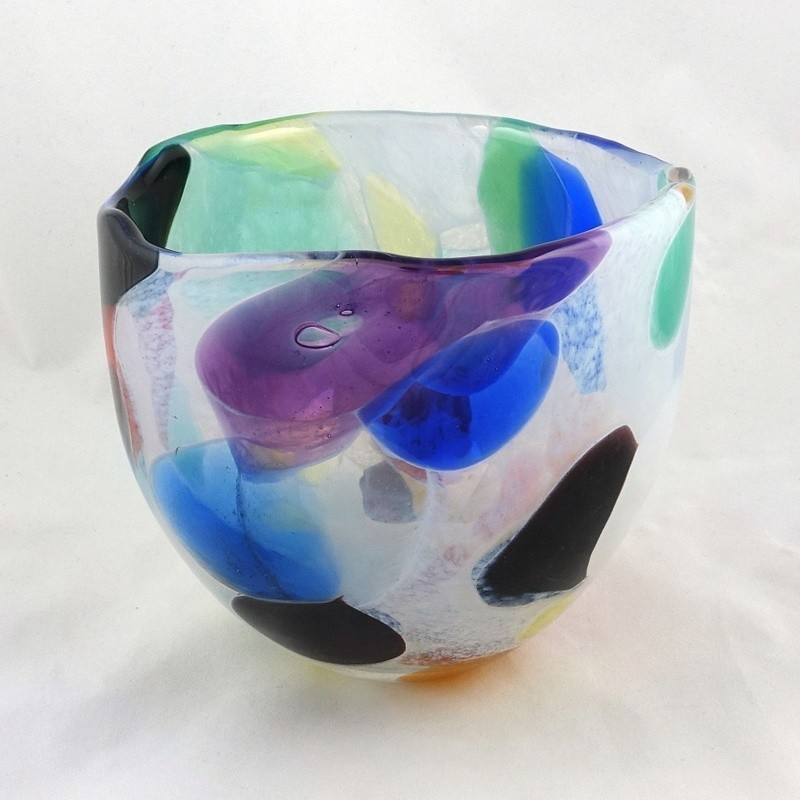 Nougat Design Glass Bowl, by Shakspeare Glass