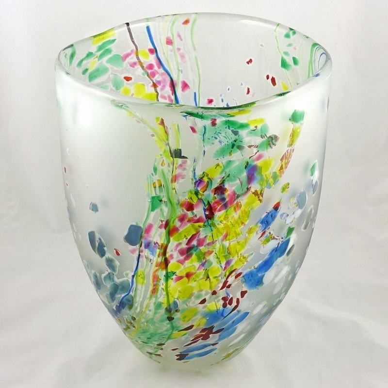 Large Seagrass Design  Bowl, by Shakspeare Glass