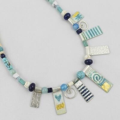 Enamelled Silver Necklace, by Nancy Pickard