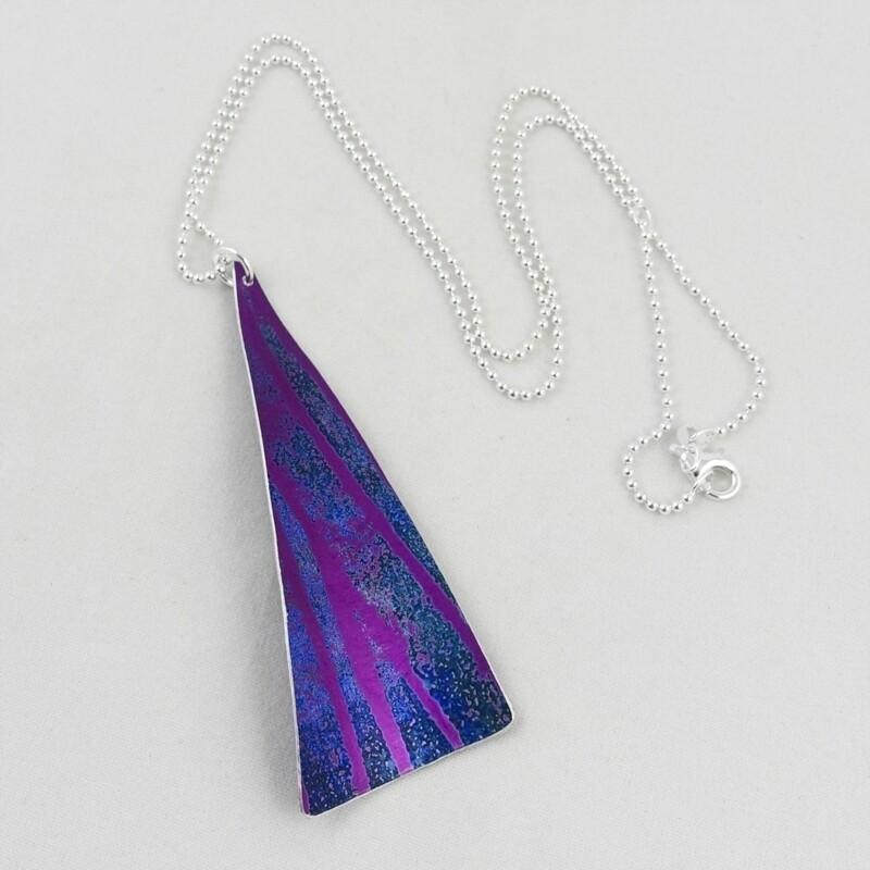 Aluminium Pendant on a Silver Chain, by Yu Lan