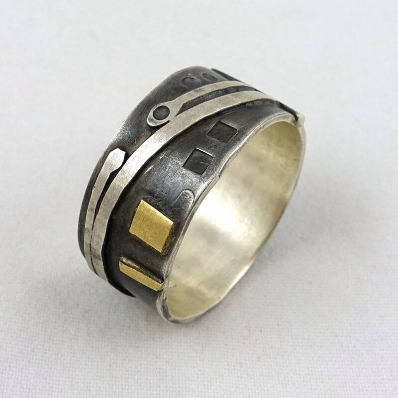 Silver & Gold Ring by Mark Veevers