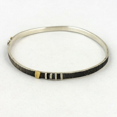 Silver & Gold Bangle by Mark Veevers