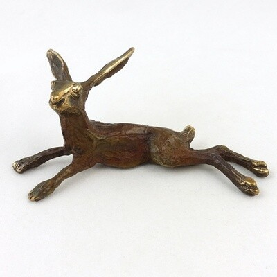 Bronze Lying Hare, by Michael Storey