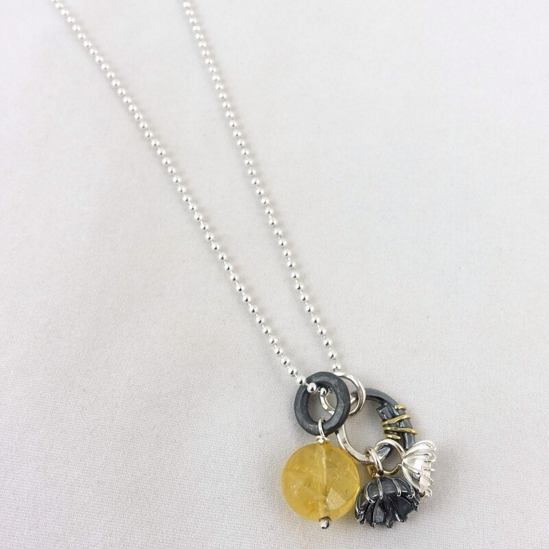 Citrine and Silver  Necklace by Adele Taylor
