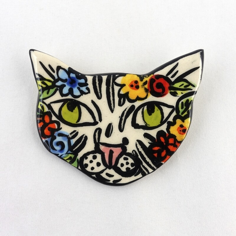 Ceramic Brooch by Kate Delpinto