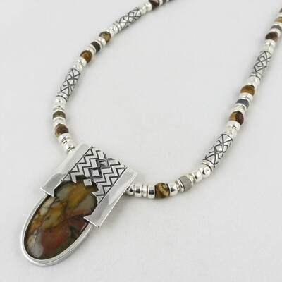 Jasper and Etched Silver