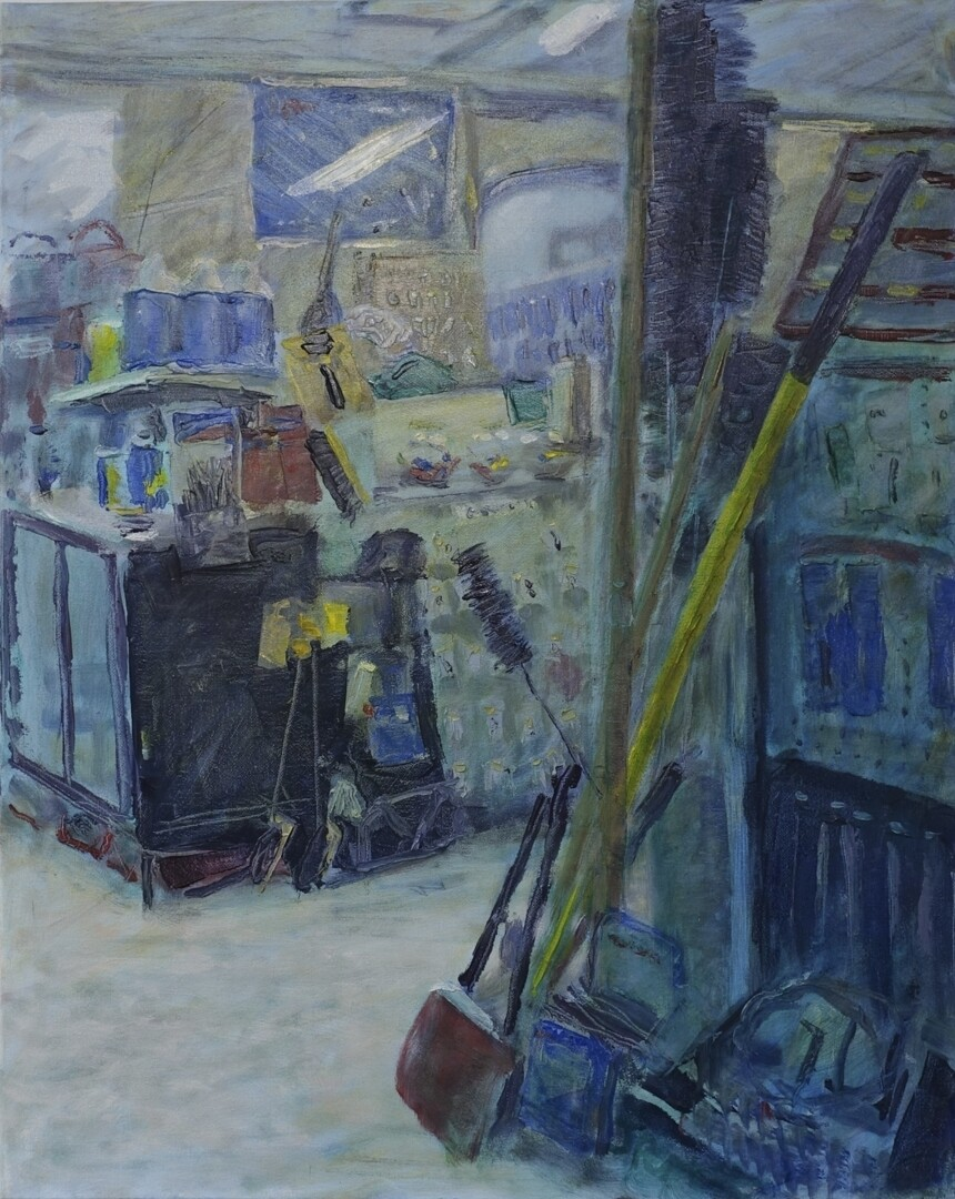 Roses the Ironmongers, Original Oil on Canvas by Jean Perrett