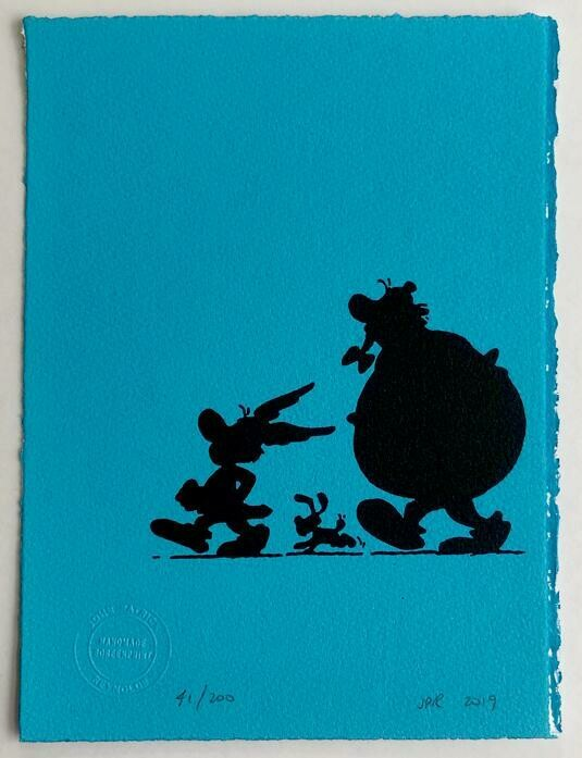 Asterix and Obelix in Silhouette, by John Patrick Reynolds