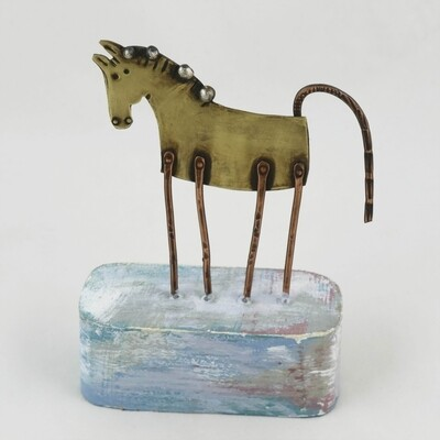 Copper Horse on Wooden Base, by Frances Noon