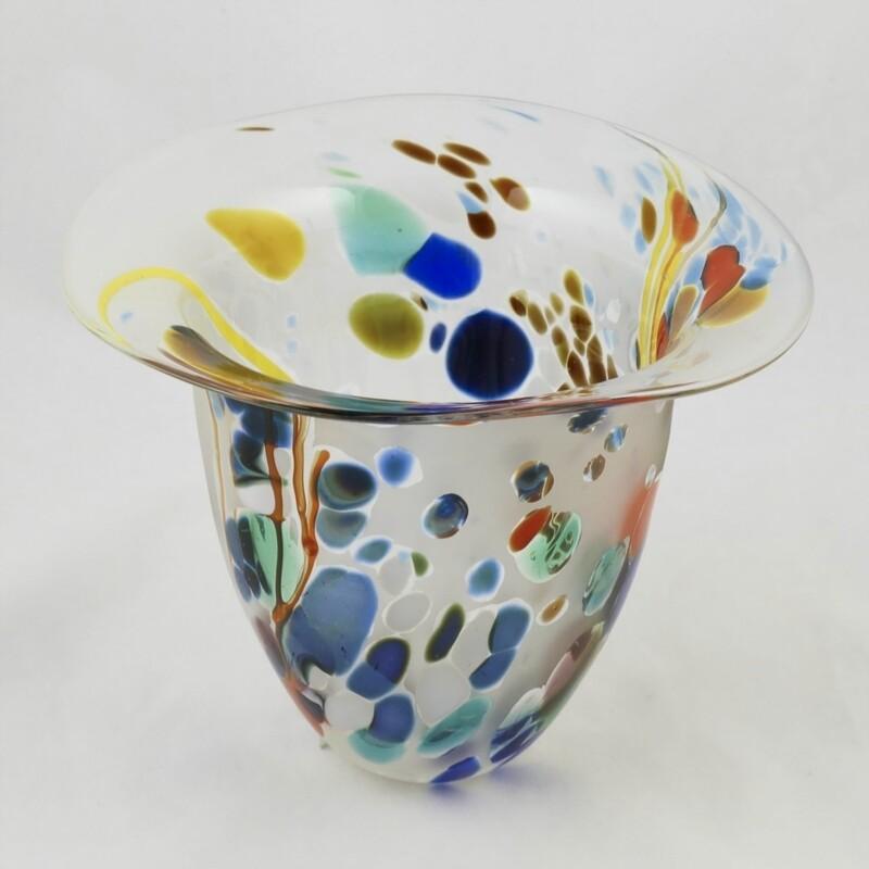 Seagrass Design Hand Blown Glass Vase, by Shakspeare Glass