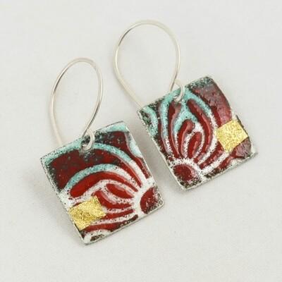 Enamelled Silver Earrings, by Nancy Pickard