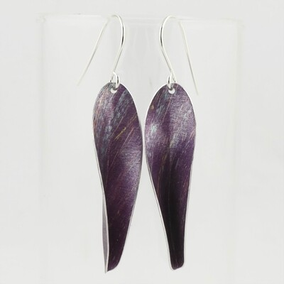 Purple Chilli Aluminium Drop Earrings, by Yu Lan
