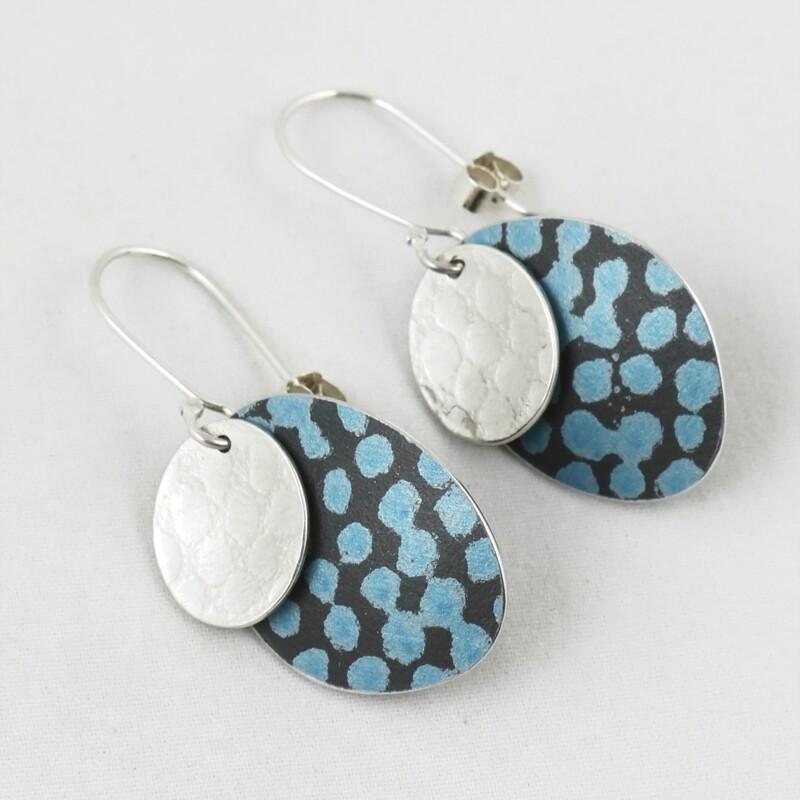 Double Disc Drop Earrings, by Penny Warren