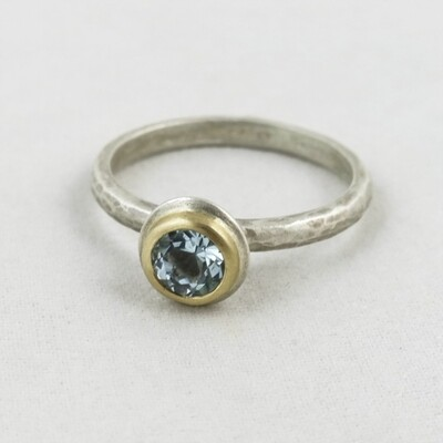 Silver Ring with Blue Topaz, by Adele Taylor