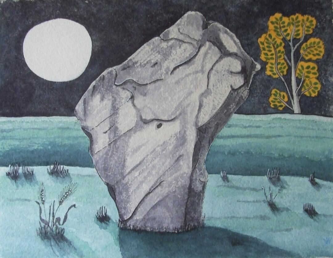 The Barber Stone Avebury, by John Walker
